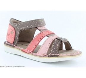 Sandales fille Kickers WOOPY Marron / Rose