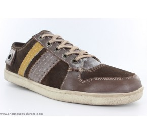 Baskets homme Kickers PHATEON Marron / Jaune