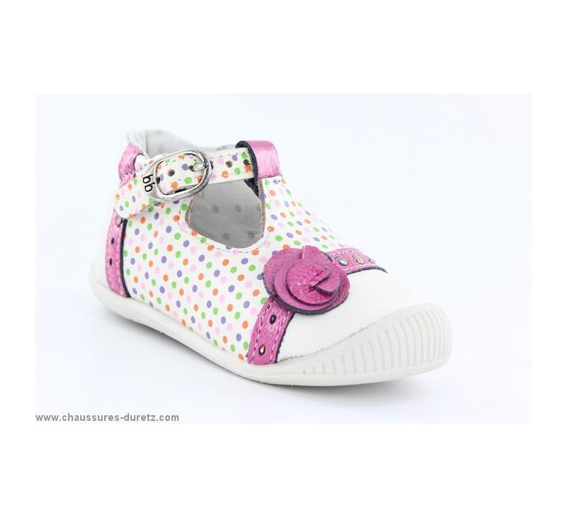 f3449e487d84e Babybotte POTIRON Blanc   Pois. Loading zoom. Chaussures ...