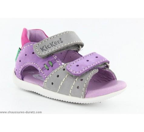 0c27d7a078ce9 Sandales Kickers BOPING Gris   Violet