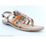 Sandales Kickers DIXMILLE Bronze / Orange
