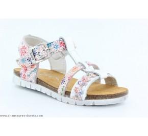 Sandales fIllette Bopy EDALIA Blanc