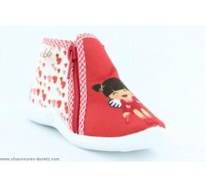 Pantoufles bébés Babybotte MAJIK Rouge / Cupidon