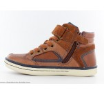 Bottines Geox GYM Cognac / Marine