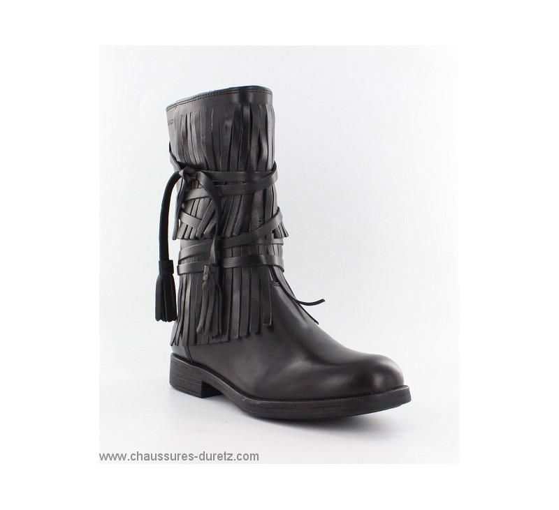 bottes filles g ox frange noir boots bottes geox. Black Bedroom Furniture Sets. Home Design Ideas