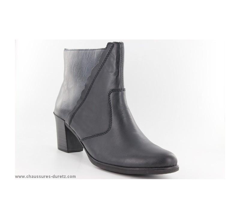 7a6bca3e390225 Boots femme Rieker - WALLON Bleu Y8950-14 - Talons hauts Rieker