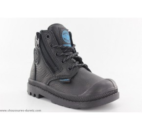 Bottines mixtes Palladium HI CUFF WP Noir