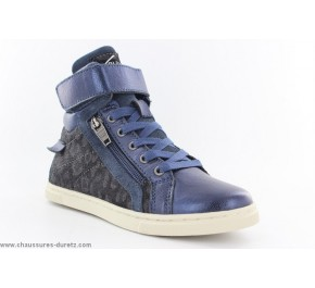Bottines fille Palladium VELEDA Léopard Bleu