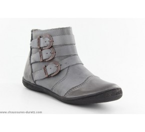 Boots fille Kickers CALIN2 Gris