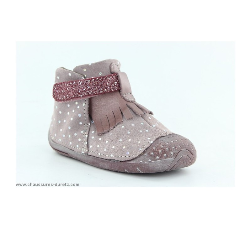 111a361d06020 Babybotte ZAZIE Rose Pois Argent. Loading zoom. Chaussons ...