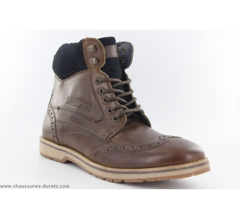 redskins bottines atex chaussures homme chataigne