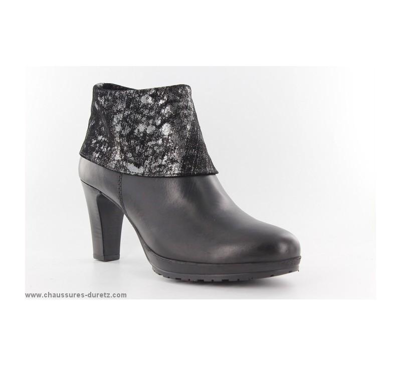 Boots femme Tamaris LUX Noir Métallic