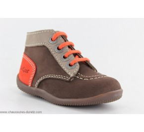 Bottines Bébés Kickers BONBON Marron / Orange