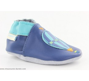 Chaussons enfant Robeez - SMART RABBIT Marine