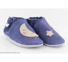 Chaussons fille Robeez MOON LIGHT Marine
