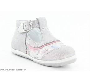 Chaussures fille Bellamy GAZA Gris / Fleuri