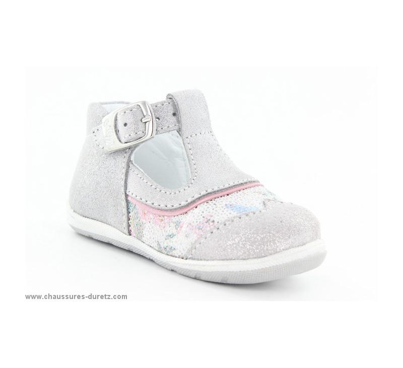 fca641ab138e8 Chaussures Bellamy GAZA Gris   Fleuri