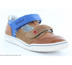 Chaussures garçons Kickers WINSCRATCH Camel / Bleu