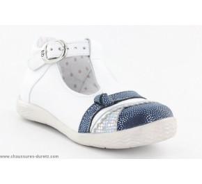 Chaussures filles Babybotte SHIFON Blanc / Marine