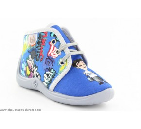 Pantoufles Garçon Babybotte MAMOUT Bleu / Graffiti