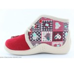 Pantoufles Babybotte MAMOUT Rouge / Patchwork
