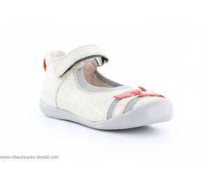 Chaussures filles Babybotte SHIFALI Argent / Corail