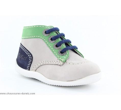 Kickers BONBON Gris / Vert / Bleu