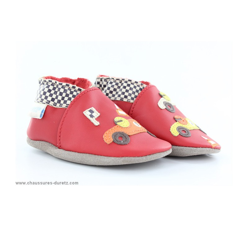 690ffdc5b03c9 Chaussons enfant Robeez SPEED Rouge