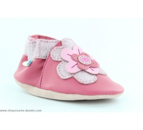 Chaussons fille Robeez BUNCH FLOWER Fuschia
