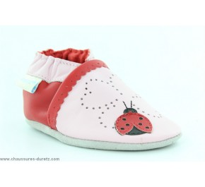 Chaussons filles Robeez LADY BUG Rose