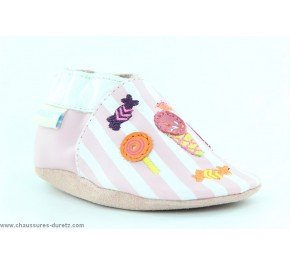 Chaussons fille Robeez CANDY SHOP