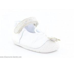 Chaussons fille Babybotte ZAELA Blanc/ Argent