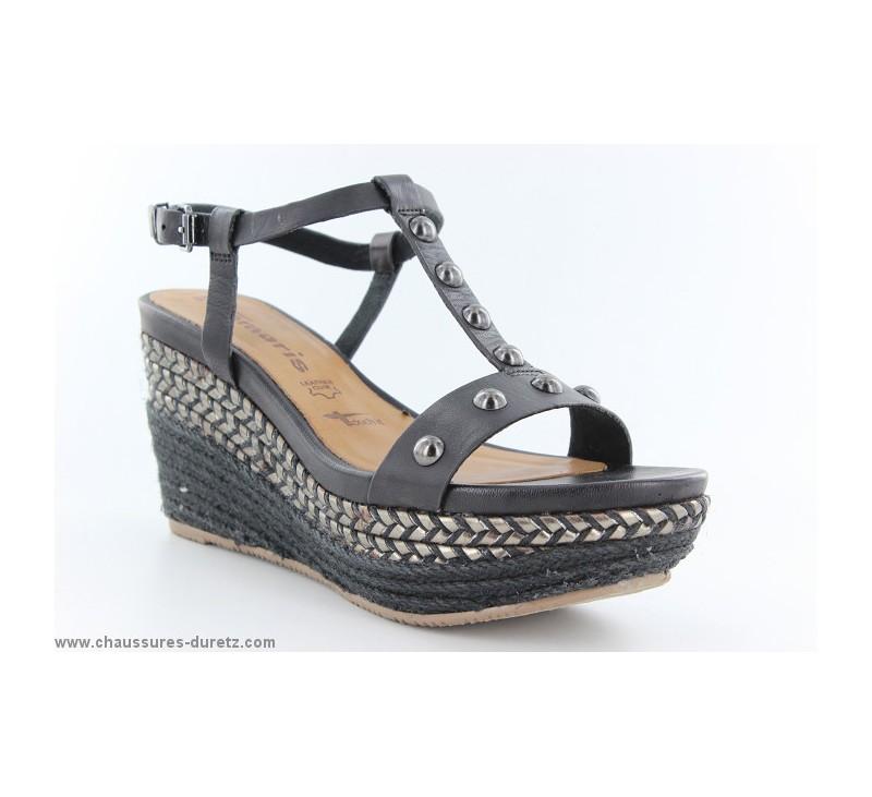 chaussures de séparation c2583 45f4f Sandales femme Tamaris ORVET Noir