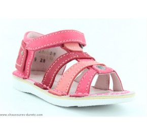 Sandales fille Kickers - WOOPY Marron / Rose