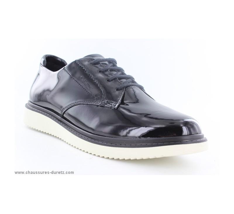 pour Verni Chaussures Geox lacets Geox Femme à DECLIC Chaussures noir qI8ETEw