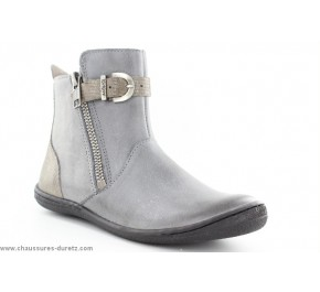 Boots filles Kickers CAMERON Gris