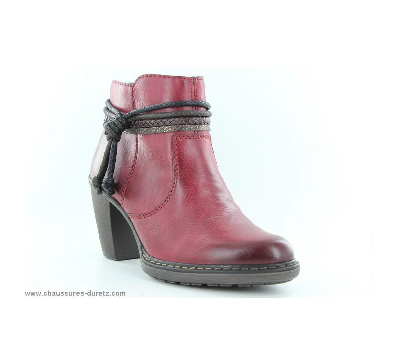 35 55298 Femme Rieker Boots Rouge Avant iXOPZkulwT