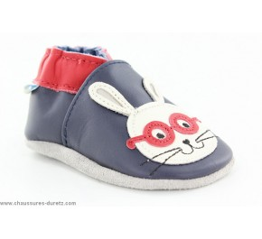 Chaussons enfant Robeez SMART RABBIT Marine