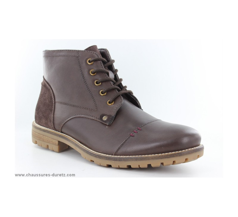 03282f386ac6a0 Bottines Kickers FANFARNO Marron | Boots & Bottines Kickers pour Homme