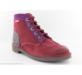 Bottines femme Kickers KICK COLOR Bordeaux
