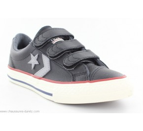 Baskets garçon Converse STAR PLAYER OX 3V Noir / Gris