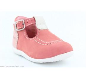 Chaussures Bébés Kickers BONBEK Rose / Blanc / Rose clair