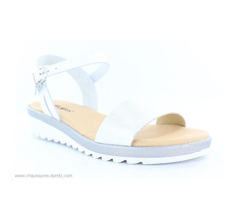 Kickers Blanc Femme Glity Plates Pour Sandales d174wd