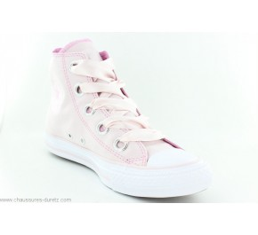 Baskets femmes Converse CTAS BIG EYELETS HI Rose
