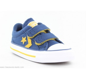 Baskets bébé Converse STAR PLAYER 2V Marine / Jaune