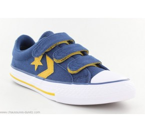 070f8ffdd550b Baskets mixtes toile Converse STAR PLAYER 3V Bleu   Jaune