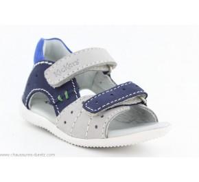 Sandales garçon Kickers BOPING Gris / Marine / Bleu