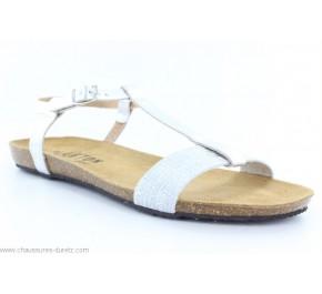 Sandales femme Plakton MAM LILI Blanc / Argent