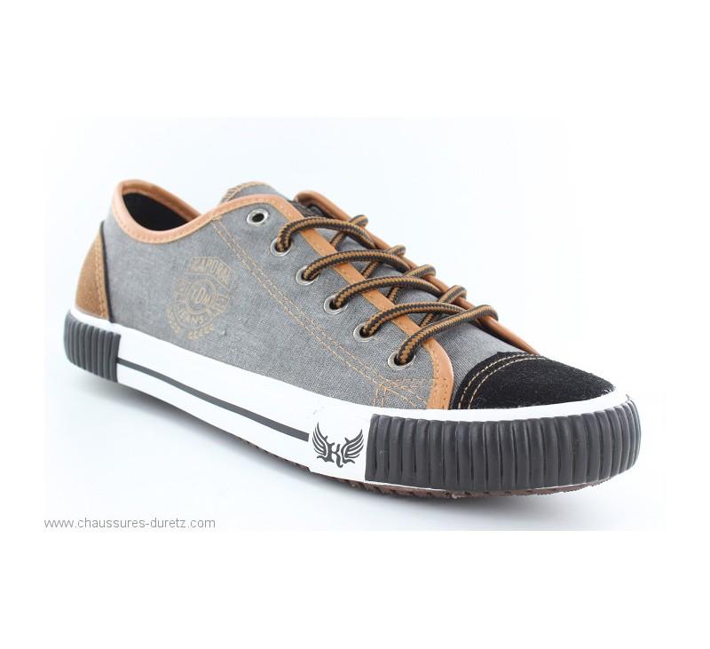 a2c427ea14 Chaussures toile Kaporal DONA Noir / Camel | Hommes Kaporal