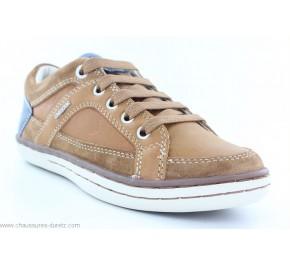Chaussures garçons Géox ETUI2 Cognac